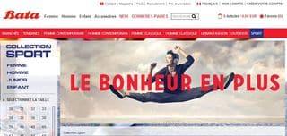 BATA : 15 euros de réductions immédiates dès 50 euros