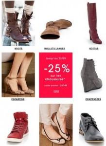 Moins 25% sur toutes les chaussures / Castaluna