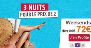 Séjours 3 nuits pour le prix de 2 (à partir de 72 euros les 3 nuits…) - Madame Vacances