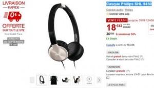 Moins de 19 euros le Casque Philips SHL 9450