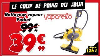 vente flash Nettoyeur vapeur Vaporetto Pocket