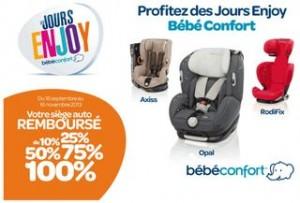 Siège auto Bébé Confort jusqu'à 100% remboursés