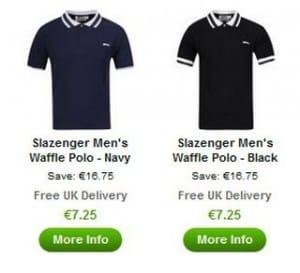 7,25 euros Polo homme Slazenger / livraison gratuite