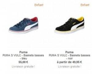 Puma S Vulc JR vendu 50 euros sur Zalando