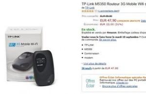 vente flash Hotspot 3G Wifi sans fil TP-LINK M5350