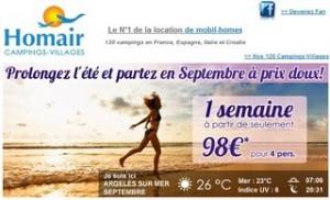Une semaine en septembre a moins de 100 euros