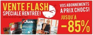 Vente flash abonnement magazines Via Presse