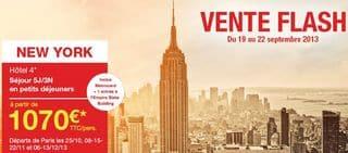vente flash Carrefour sejour New-York