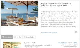 Moins 80% sur un Séjour de luxe SPA hôtel 4 Etoiles Juan-Les-Pins