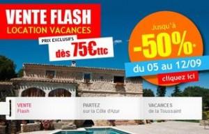 Vente flash location vacances