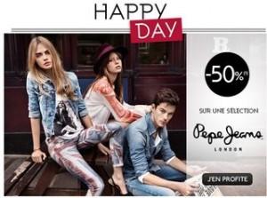 Vente flash vêtements Pepe Jeans à moitié prix