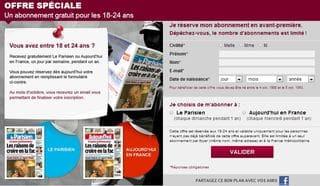 abonnement gratuit le Parisien - Aujourd hui en France