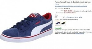 baskets Puma S Vulc à moitié prix