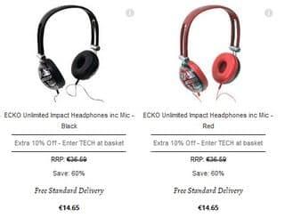 Casque audio ECKO avec micro à seulement 13,19 euros (port inclus)
