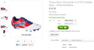 chaussures foot PUMA 18 euros
