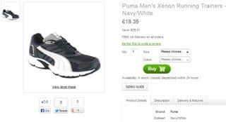 chaussures sport PUMA 18 euros