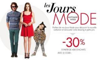 Amazon -30% sur la mode à partir de 40 euros (Code promo)