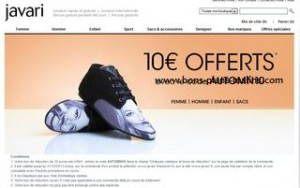 10 euros de réductions sur Javari (code promo sans minimum d'achat)