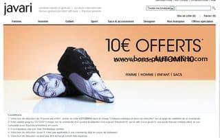 10 euros de r ductions sur javari code promo sans minimum d achat. Black Bedroom Furniture Sets. Home Design Ideas