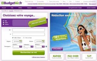 Code r duction billet d avion toutes destinations budget air - Code reduction vente unique com ...