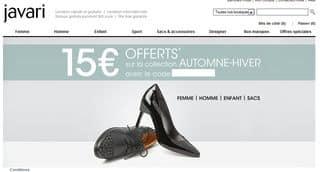 code promo javari 15 euros