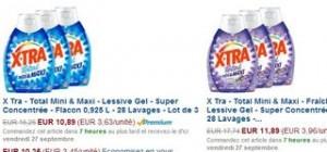 lessives Xtra Total pas chères
