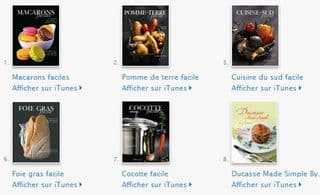 8 eBook gratuits par Alain Ducasse sur iPhone, iPad ou iPod