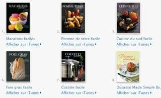 8 eBook gratuits par Alain Ducasse sur iPhone, iPad ou iPod
