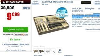 Moins de 10 euros la ménagère Laguioles 24 pièces / vente flash jusqu'à 9h