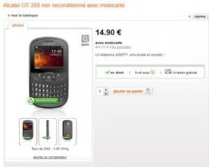 mobile Alcatel OT-358 reconditionne Orange pas cheres