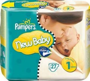 1 paquet couches Pampers New Baby + 1 pack de lingettes Pampers achetés = 6 euros de réductions immédiates
