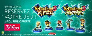 offre precommande Inazuma Eleven 3 - figurine gratuite