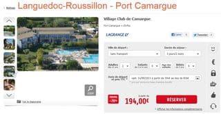 sejour Village Club Camargue moins 75 pourcent