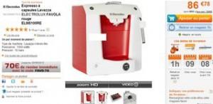 Moins de 17 euros Cafetiere Lavazza capsules Electrolux au lieu de 86 euros !