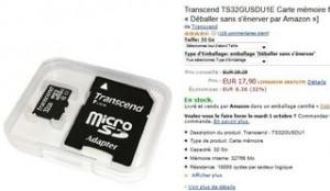 vente flash carte Micro SDHC 32Go pas chère