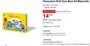 vente flash coffret Maternelle Petit Ours Brun de Clementoni