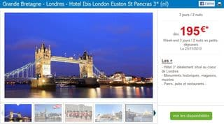 vente flash séjour Londres a 195 euros