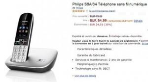 vente flash sur le Téléphone Philips sans fil numérique avec MobileLink