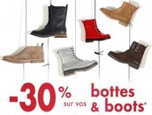 Moins 30% sur les bottes et boots chez Gémo jusqu'à ce soir