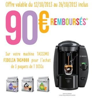 9 euros la cafeti re dosette tassimo bosch apr s odr de 90 euros. Black Bedroom Furniture Sets. Home Design Ideas