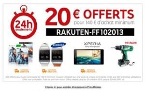 Code promo PriceMinister 20 euros pour 140 euros d'achats