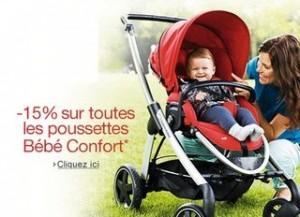 Code promo poussettes et accessoires Bébé Confort, Quinny, Safety First