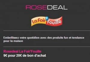 Deal bon achat Foir Fouille