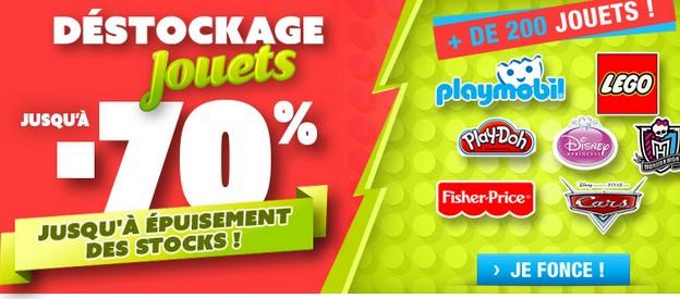 Déstockage jouets Auchan