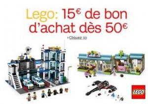 LEGO 15 euros offerts pour 50 euros