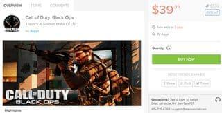 Moins de 30 euros Pack Call of Duty Mac
