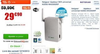 répéteur Wifi Netgear à 29,99 euros en vente flash