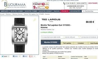 Montre Homme Ted Lapidus 5115202