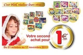 1 jeu Ravensburger à 1 euros pour 2 jeux achetés
