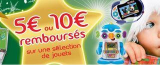 Offre Noel 2013 VTECH 5 ou 10 euros  rembourses